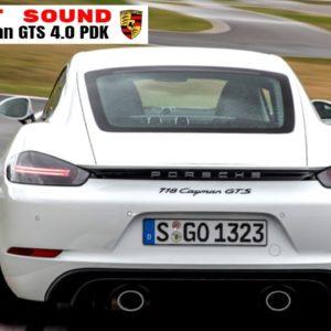 Porsche 718 Cayman GTS 4.0 PDK Engine and Exhaust Sound