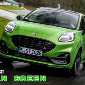 2021 Ford Puma ST in Mean Green Color