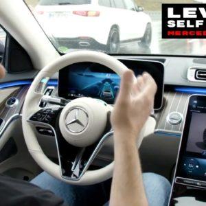 2021 Mercedes S Class Level 3 Self Driving Drive Pilot Demo