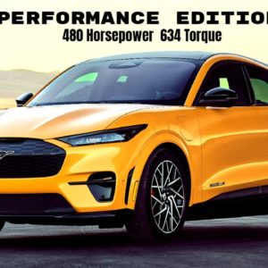 Electric Ford Mustang Mach E GT Performance Edition Is As Quick To 60 As GT500
