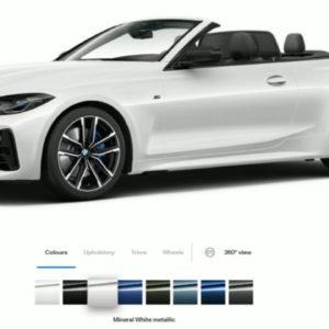 2021 BMW 4 Series M440i Convertible Colors