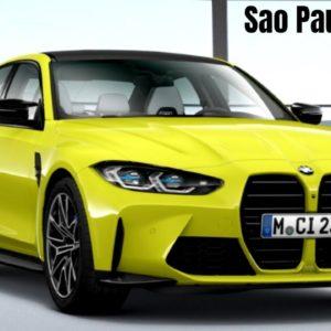2021 BMW M3 in Sao Paulo Yellow