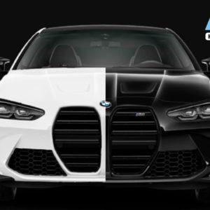 2021 BMW M4 Competition in Black and White Colors