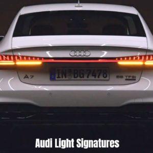 Audi Light Signatures