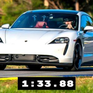 Electric Porsche Taycan Turbo S Lap Time at Michelin Raceway Road Atlanta