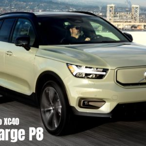 Electric 2021 Volvo XC40 Recharge P8 SUV US Spec in Sage Green