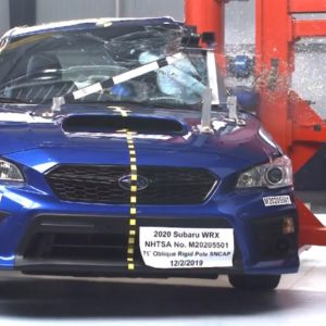2020 Subaru WRX Safety Test and Rating