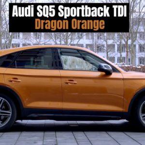 2021 Audi SQ5 Sportback TDI Quattro in Dragon Orange