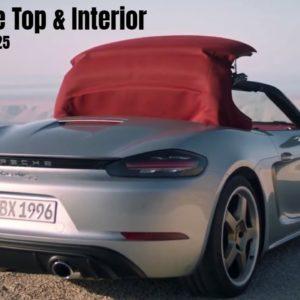 2021 Porsche Boxster 25 Convertible Top and Interior