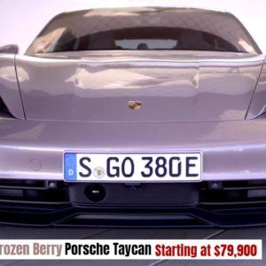 Base 2021 Porsche Taycan in Frozen Berry Starting at $79,900