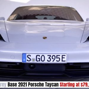Base 2021 Porsche Taycan in Ice Grey Starting at $79,900