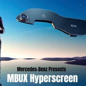 Mercedes Presents The MBUX Hyperscreen at CES 2021