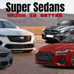 Cadillac CT5 V Blackwing vs Mercedes AMG E63 S vs BMW M5 CS vs Audi RS7