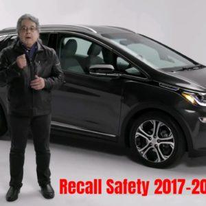 Chevrolet Bolt EV Important Recall Safety Information For 2017 2018 2019