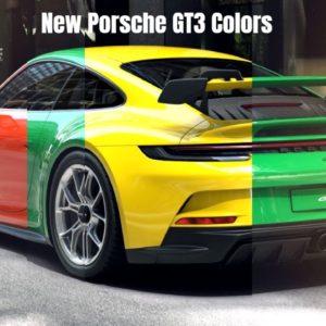 New 2022 Porsche GT3 992 911 Colors Revealed