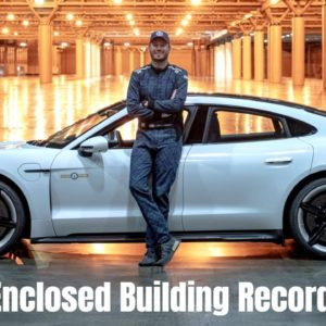 Porsche Taycan Is The Fastest Vehicle Driven In An Enclosed Building