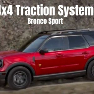 2021 Ford Bronco Sport 4x4 Traction System