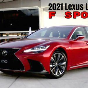 2021 Lexus LS500 F Sport Looks Great in Red