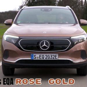 2021 Mercedes EQA in Rose Gold Metallic