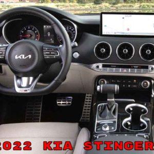 2022 Kia Stinger GT and GT Line Interior