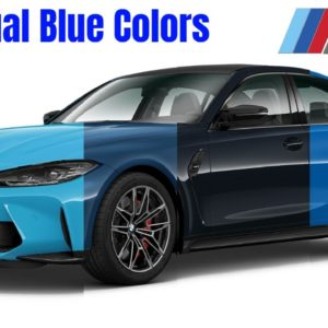 BMW M3 G80 Individual Blue Colors and Codes