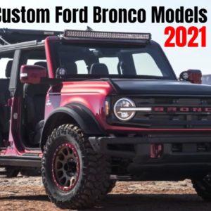 Custom Ford Bronco Models at 2021 Moab Safari