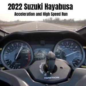 New 2022 Suzuki Hayabusa Acceleration and High Speed Run