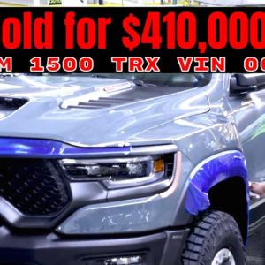 First Production 2021 Ram 1500 TRX VIN 001 Sold for $410,000 at Barrett Jackson