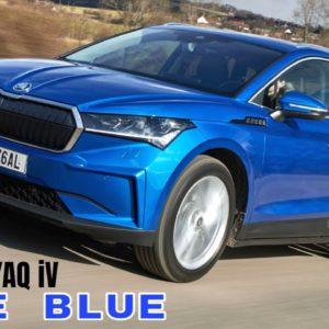 SKODA ENYAQ iV in Race Blue