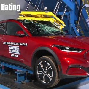 2021 Electric Ford Mustang Mach E and Volvo XC40 Recharge Safety Rating