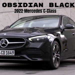 2022 Mercedes C-Class Plug-in Hybrid in Obsidian Black