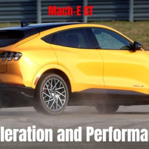 Ford Mustang Mach E GT Acceleration and Performance Driving