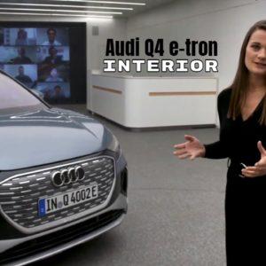 Interior of Audi Q4 e-tron and Q4 Sportback e-tron