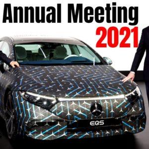 Mercedes Daimler Annual Meeting Featuring EQS