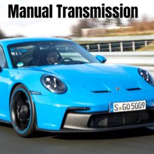 New 2022 Porsche 911 GT3 Manual Transmission in Shark Blue