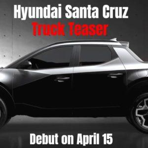 New Hyundai Santa Cruz Truck Teaser