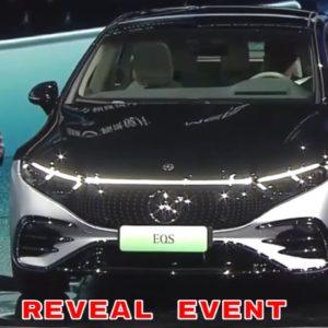 New Mercedes EQS Electric S Class Luxury Sedan Reveal Event