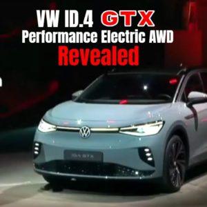 New VW ID.4 GTX Performance Electric AWD Revealed