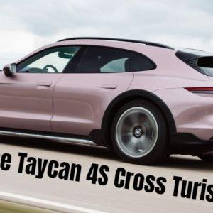 Porsche Taycan 4S Cross Turismo in Frozen Berry