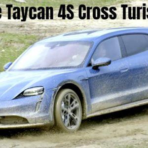 Porsche Taycan 4S Cross Turismo in Neptune Blue