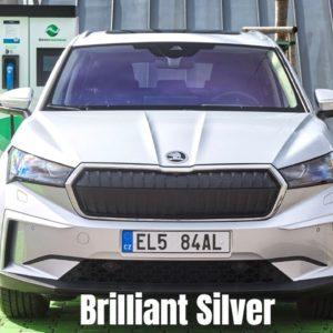 SKODA ENYAQ iV in Brilliant Silver