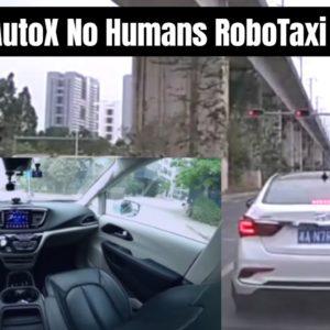 AutoX No Humans RoboTaxi Fully Autonomous Self Driving