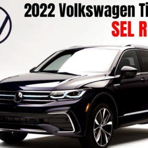 New 2022 Volkswagen Tiguan SEL R Line in Atlantic Blue