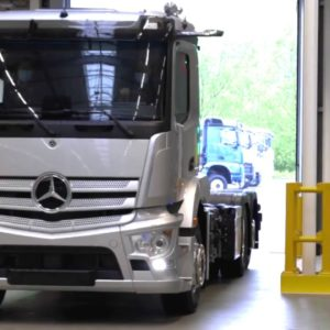 New 2022 Mercedes eActros Electric Truck Production
