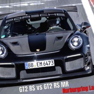 Porsche 911 GT2 RS vs GT2 RS MR Manthey Performance Kit Nurburgring Lap