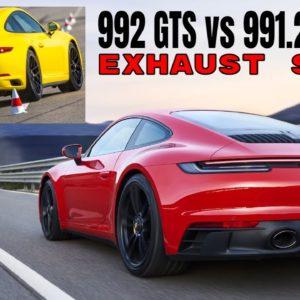 Porsche 911 992 GTS vs 991.2 GTS Exhaust Sound