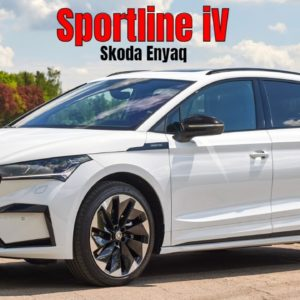 Skoda Enyaq Sportline iV in Moon White