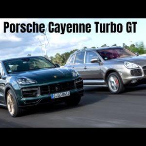 2022 Porsche Cayenne Turbo GT Meets First Generation Cayenne