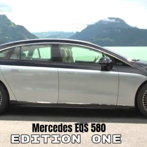 Mercedes EQS 580 Edition One Electric S Class in Silver and Obsidian Black