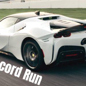 Ferrari SF90 Stradale Production Car Lap Record Run